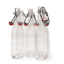 Swing Top PET Plastic Bottles + Stopper 500ml Home Brew Drinks Beer 24 PACK