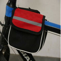 Bicycle Bike Cycling Frame Pannier Saddle Front Tube Bag Double Holder Pouch YB