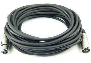 10 m Mikrofonkabel schwarz Adam Hall K3MMF1000 XLR 3 pol DMX Mikrofon Kabel