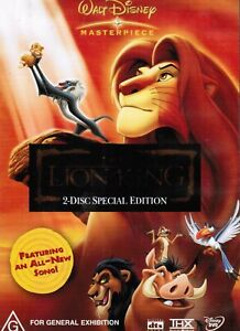 LIKE NEW THE LION KING DVD, 2004, 2-DISC SET SPECIAL EDITION PAL REGION 4