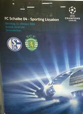 Spielplakat + FC Schalke 04 vs Sporting Lissabon + Champions League + 21.10.2014