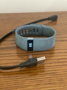 Fitbit Force Wireless Activity Wristband Small S/P Blue Charging Cord used