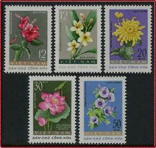 VIETNAM du NORD N°267/271** Fleurs, 1962 North Vietnam Flowers MNH