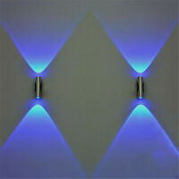 Double-headed LED Wall Light Home Sconce Bar Porch Wall Decor Ceiling Light Blue