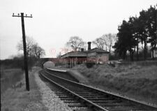 PHOTO  SR FITTLEWORTH RAILWAY STATION VIEW LOOKING TOWARDS PULBOROUGH 18/12/54 L