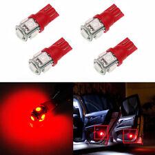 JDM ASTAR 4x T10 Red 194 168 Samsung 5050 SMD LED Car Marker Brake Lights Bulbs