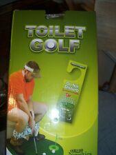 Fairly Odd ~ Toilet Golf Set ~ Mat Putter Balls DND Sign Cup ~ Hilarious