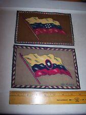 Vintage Antique Felt Cigar Box Flags Venezuela & Columbia