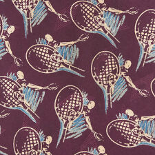 Chaps Ralph Lauren Tennis Racket Wimbledon Sport Purple Silk Neck Tie