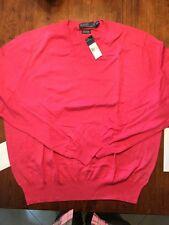New NWT Polo Ralph Lauren Cashmere Cotton Vneck Sweater XXL