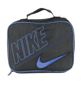 Vintage Nike Spell Out Block Letter Travis Scott Swoosh Lunch Box Bag Case Navy