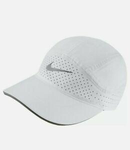 NIKE Women's Tailwind Aerobill Dri-Fit Running Hat/Cap-White CI1695-100