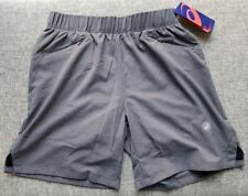 ASICS Mens Motion 2-N-1 7IN D1 Running Shorts S Dark Grey Heather 0773 Brand New