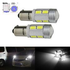 2x BAX9s H6W 10 LED Ampoule Veilleuse Blanc Feux de stop Citroen C4 Picasso C5