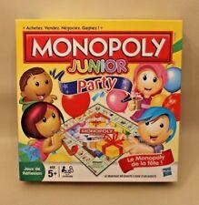 Monopoly Junior Party Fête  Jeu de société pour enfants - complet, très bon état