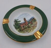 Forstenberg Seit 1747 West-Germany Vintage Ceramic Ashtray Deer Hunter Hunt Club