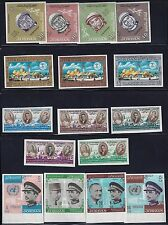 JORDAN 1960's SEVEN COMPLETE IMPERF SETS OLYMPICS KENNEDY WORLD FAIR ASTRONAUTS