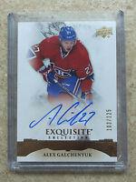15-16 UD Exquisite Collection Signatures #ES-AG ALEX GALCHENYUK /125