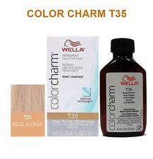 WELLA COLORCHARM LIQUID HAIR TONER 1.4oz T35 BEIGE BLONDE