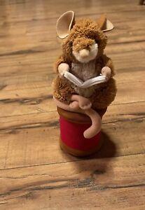 Eden Toys Beatrix Potter Peter Rabbit Mouse Reading On Spoll Plush Animal Toy