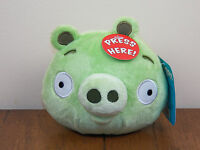 "Angry Birds Green Pig Bad Piggie 5"" Plush Stuffed Animal Doll W/ Sound **NEW**"