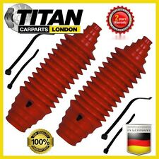 2x Universal Steering Boot Gaiter Kit Red Silicone With Cable Ties Brand New