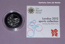 2012 LONDON OLYMPICS SPORTS COLLECTION SILVER 50p & CERT - CYCLING DESIGN