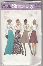 Sewing Pattern - MISSES AND WOMENS SKIRTS IN TWO LENGTHS - VINTAGE