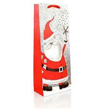 1 x Bottle Bag Christmas Wine Bottle Gift Bag -Luxurious Decorative Glitt