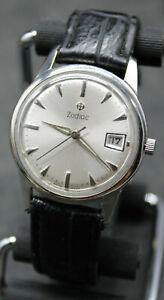 Vintage Zodiac Mechanical Men's Wrist Watch With Date 34mm 17j LTD 721 2 (R3T)