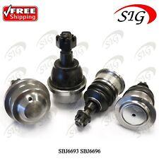 4 JPN Upper & Lower Ball Joints for GMC Sierra 2001-2010 Same Day Shipping