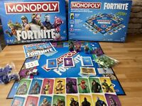 Hasbro Monopoly Fortnite Edition Board Game - 100% Complete VGC
