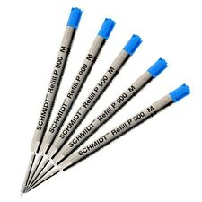 5pk Schmidt P900M Medium Blue Ballpoint Pen Refill Parker Style Made in Germany
