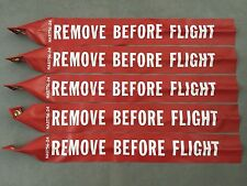 "REMOVE BEFORE FLIGHT STREAMER 36"" Long x 3"" Wide NAS1756-36 US Pack Of 5. USA"