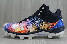 46 RARE Under Armour Harper 3 PE MCS 4th of July Fireworks Baseball Cleats Sz 11