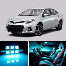 9pcs LED ICE Blue Light Interior Package Kit for  Toyota Corolla 2014-2016