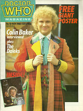 Rare Back Issue - DOCTOR WHO Magazine #118  COLIN BAKER Carole Ann Ford - POSTER
