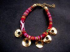 Festival Bracelet Boho Tribal  Ethnic Friendship Woven Cord  Adjustable