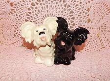 Vintage Goebel Black & White Skye Terrier Figurine