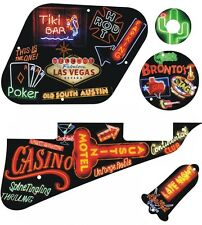 Kit Pickguard Pick Guard Graphical Gibson LP Les Paul Guitar Neon Collage
