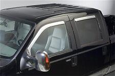 Putco 480209 Element Chrome Window Visors fits 99-15 Ford F-250/350 Crew Cab