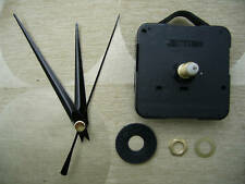 CLOCK MECHANISM QUARTZ LONG SPINDLE. 86mm BLACK HANDS
