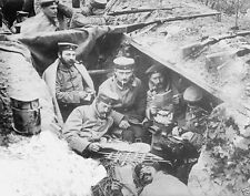 German soldiers relaxing in a front-line trench 1914 World War I WWI 8x10 Photo