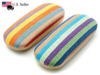 Clam Shell Hard Case for Eyeglasses - Chose Color: Blue/Green or Orange/Yellow
