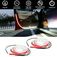 2/4 x Car Door Open Warning Lamp Flashing LED Lights Strip Anti-collision Safety