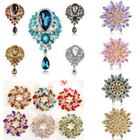 Wedding Bridal Colorful Rhinestone Crystal Pearl Flower Animal Broach Brooch Pin