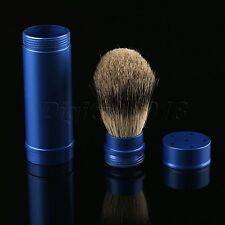 1PC Travel Shaving Brush Pure Badger Hair Removable Aluminum Handle Portable