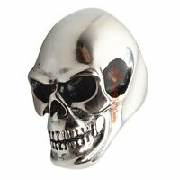 Men's Huge Heavy Skull 316L Stainless Steel Biker Ring Size 7-15 8 9 10 11 12 13