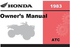 Honda 1983 ATC 200E Big Red Owner Manual 83