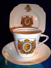 1937 CORONATION STANLEY CHINA  KING EDWARD VIII CUP ,SAUCER & PLATE TRIO